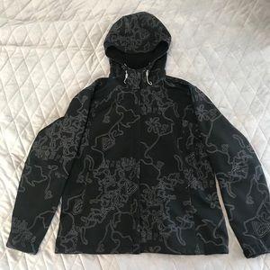Fire fly ladies black printed coat